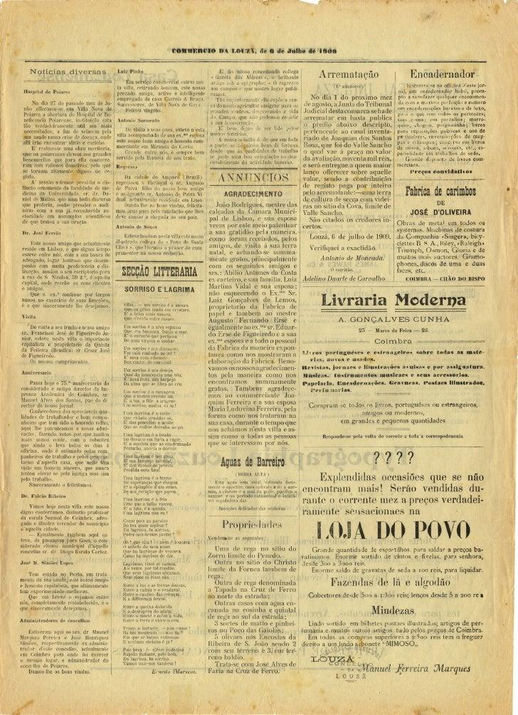 Commercio da Louzã n.º 14 – 07.07.1909 Slide 3