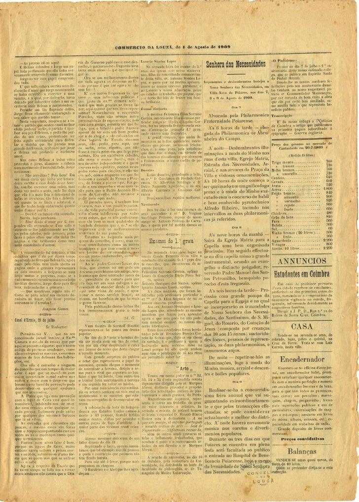Commercio da Louzã n.º 17 – 01.08.1909 Slide 3