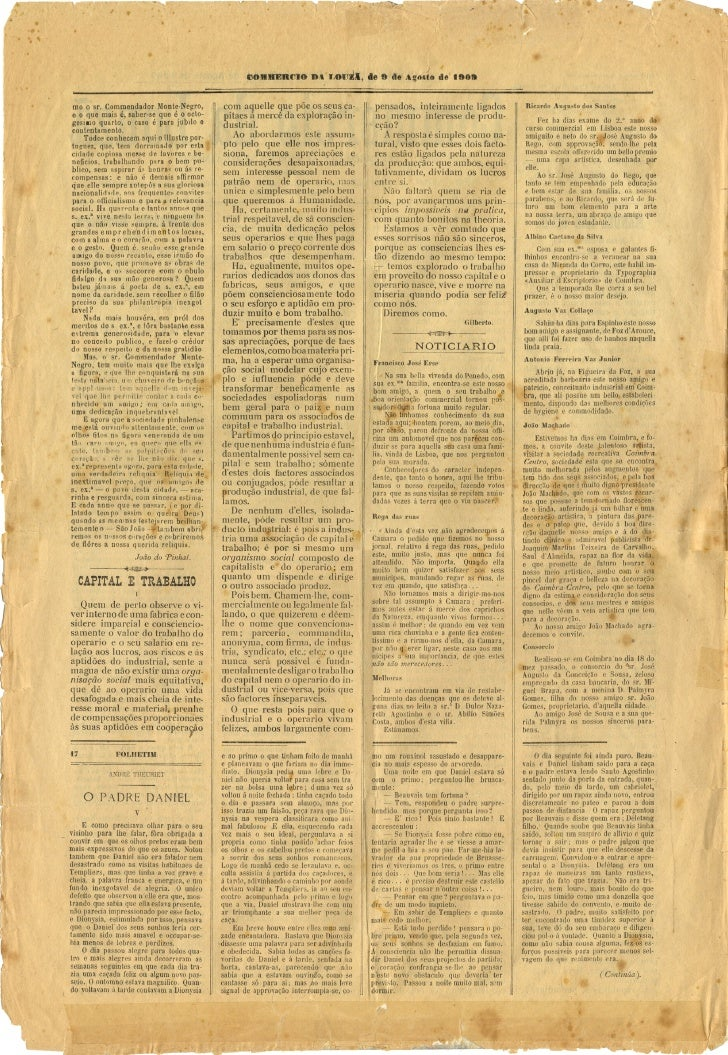 Commercio da Louzã n.º 18 – 09.08.1909 Slide 2