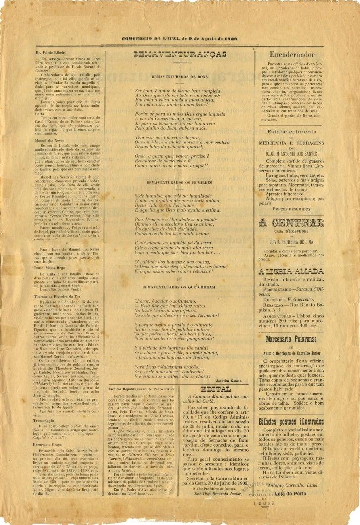 Commercio da Louzã n.º 18 – 09.08.1909 Slide 3
