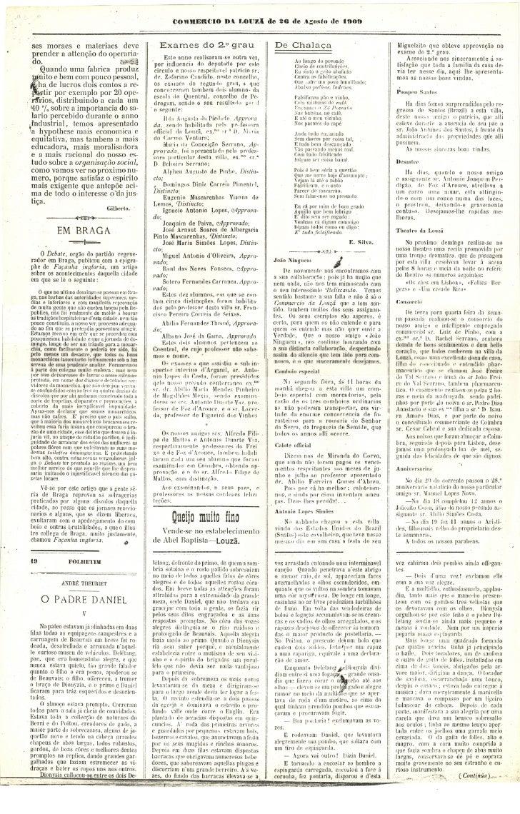 Commercio da Louzã n.º 20 – 26.08.1909 Slide 2