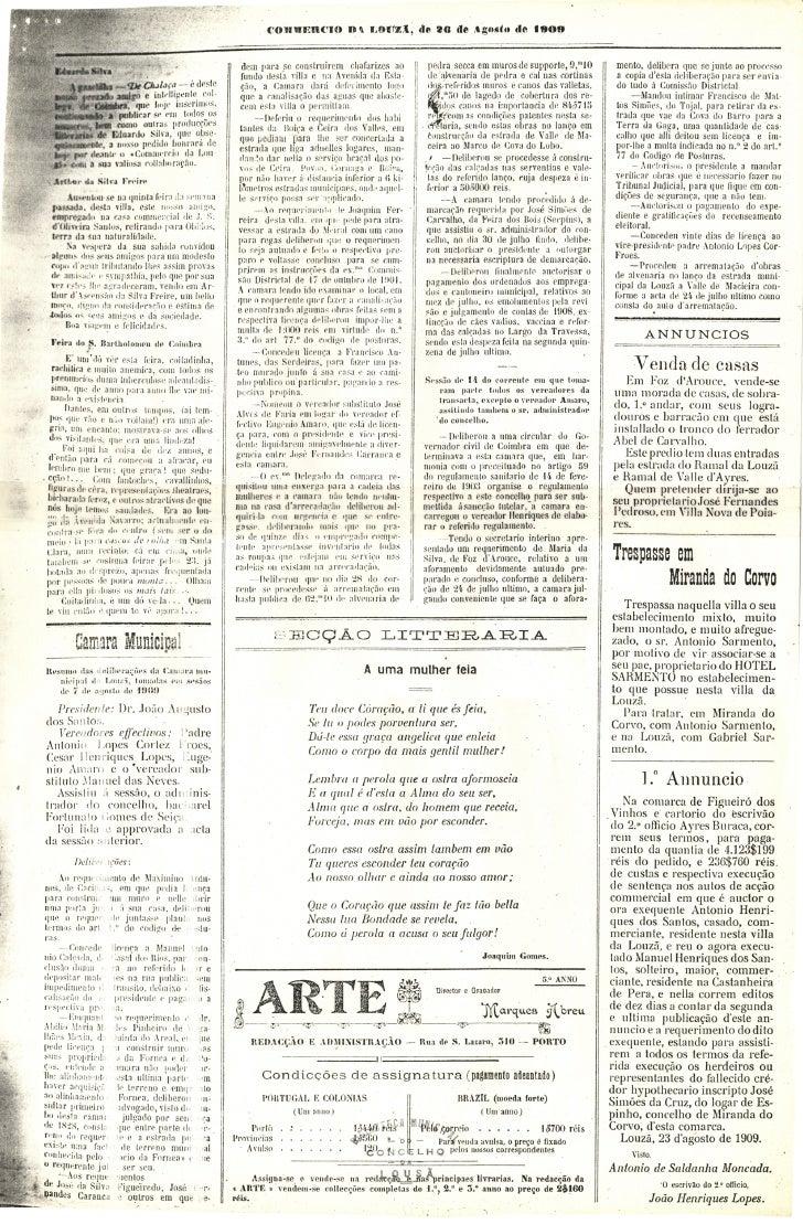 Commercio da Louzã n.º 20 – 26.08.1909 Slide 3