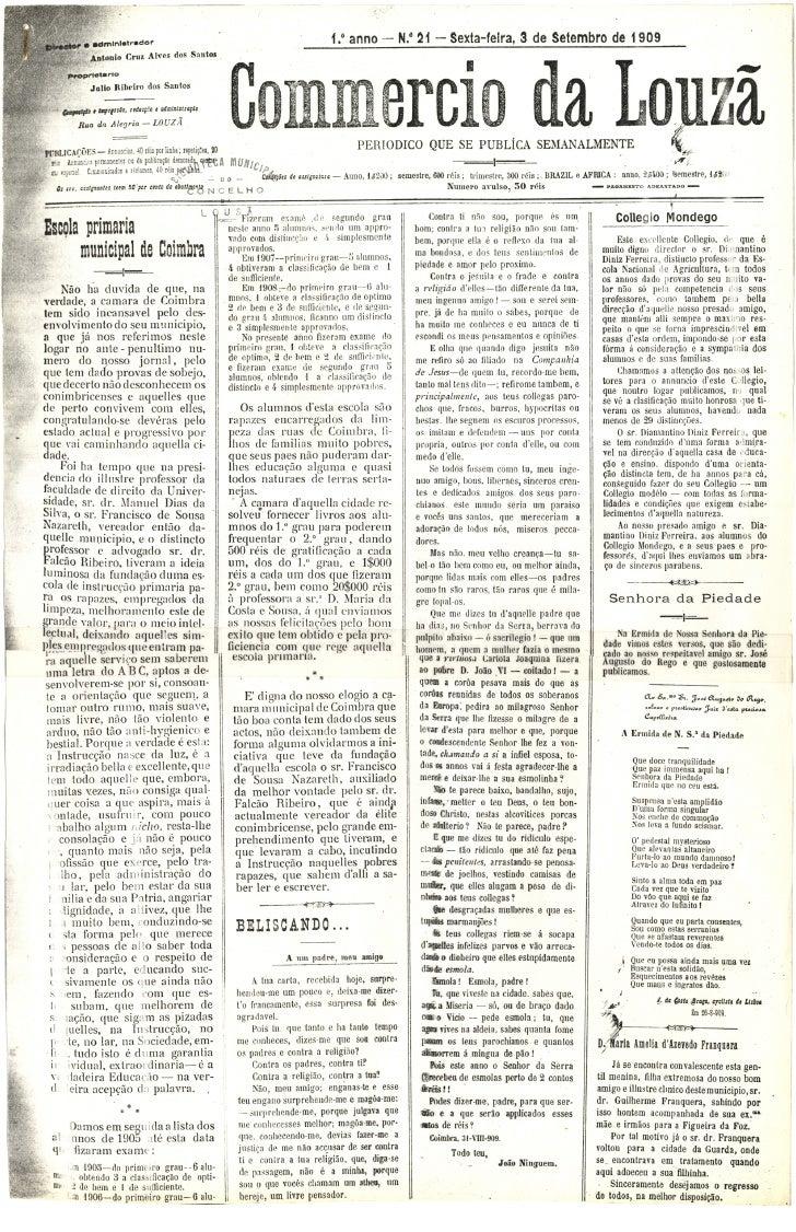 Commercio da Louzã n.º 21 – 03.09.1909