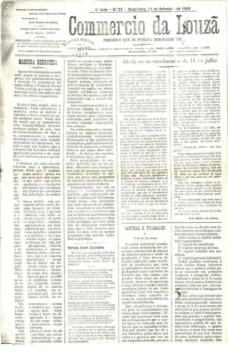 Commercio da Louzã n.º 22 – 10.09.1909