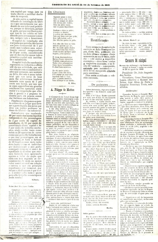 Commercio da Louzã n.º 22 – 10.09.1909 Slide 2