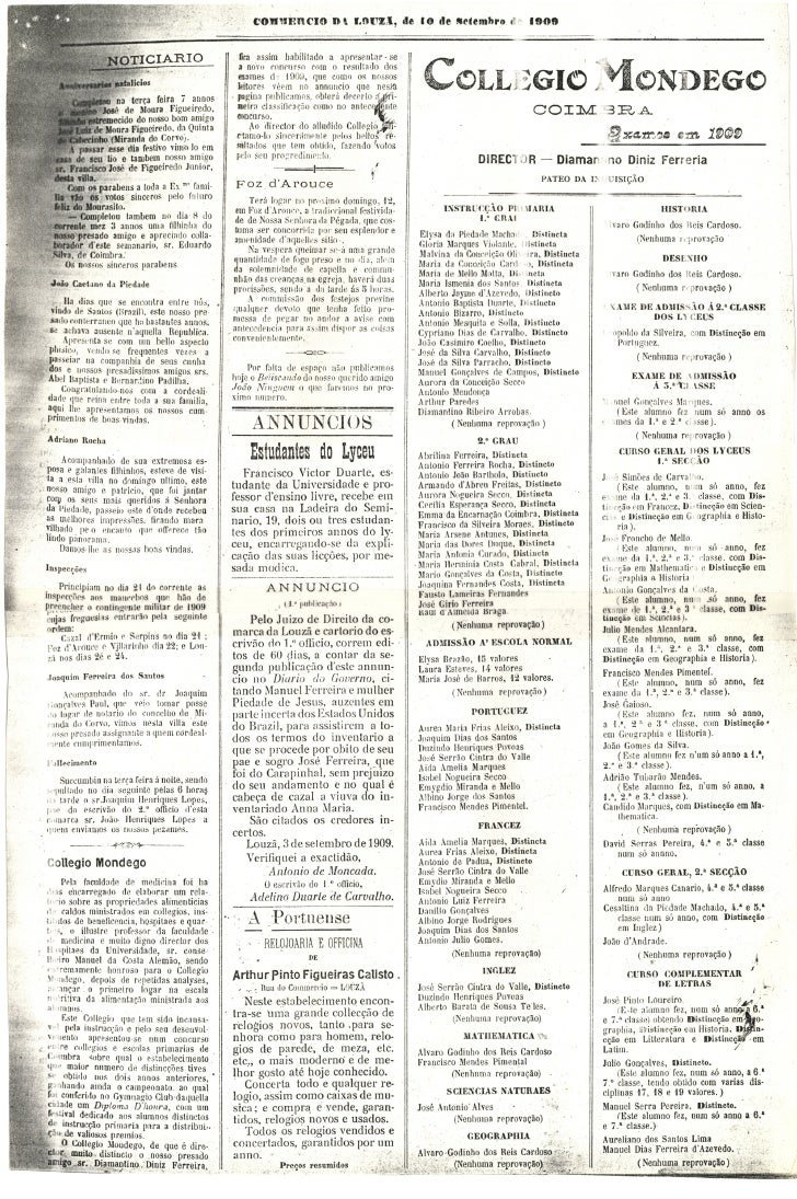 Commercio da Louzã n.º 22 – 10.09.1909 Slide 3