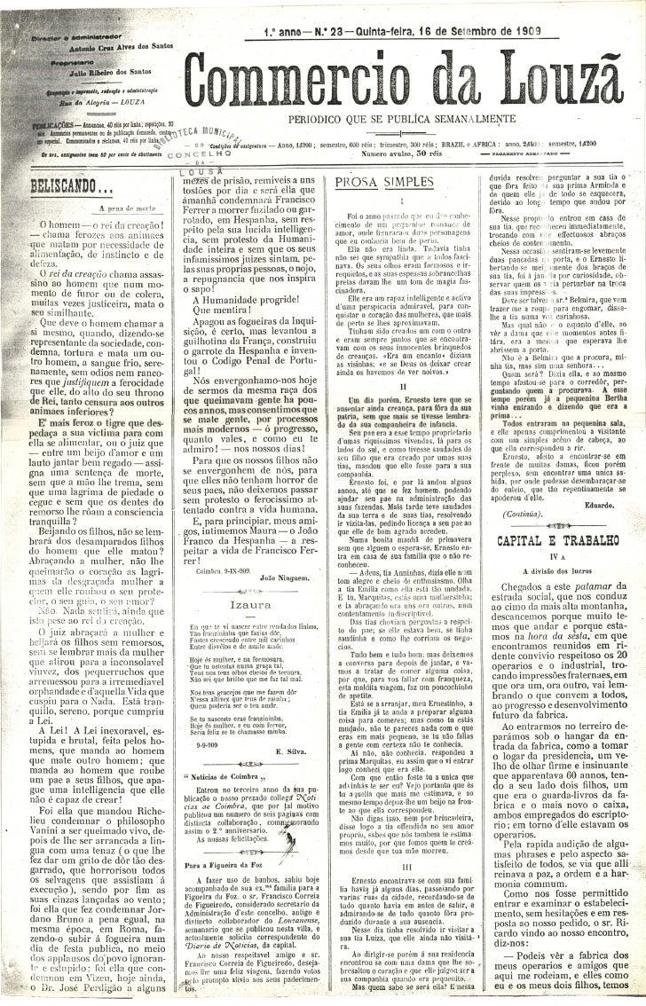 Commercio da Louzã n.º 23 – 16.09.1909
