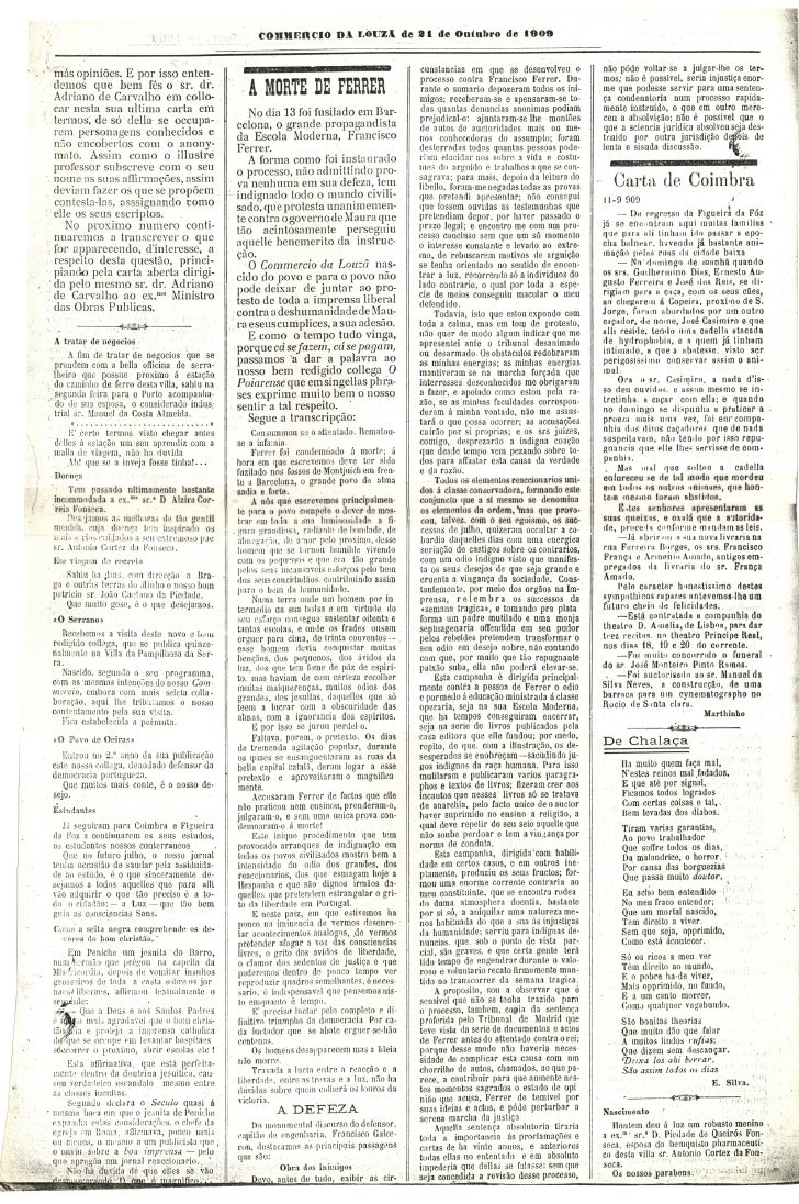 Commercio da Louzã n.º 26 – 21.10.1909 Slide 2
