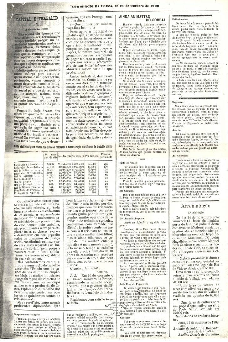 Commercio da Louzã n.º 26 – 21.10.1909 Slide 3