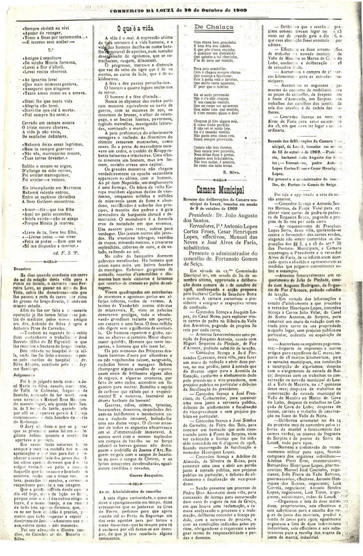 Commercio da Louzã n.º 27 – 29.10.1909 Slide 2