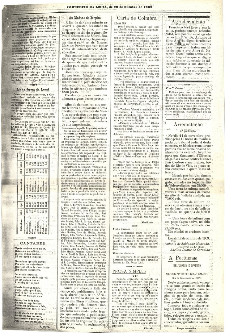 Commercio da Louzã n.º 27 – 29.10.1909 Slide 3