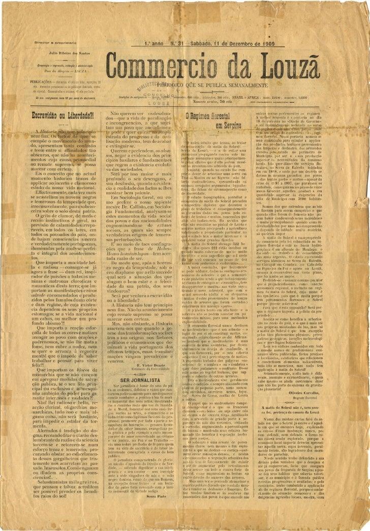 Commercio da Louzã n.º 31 – 11.12.1909