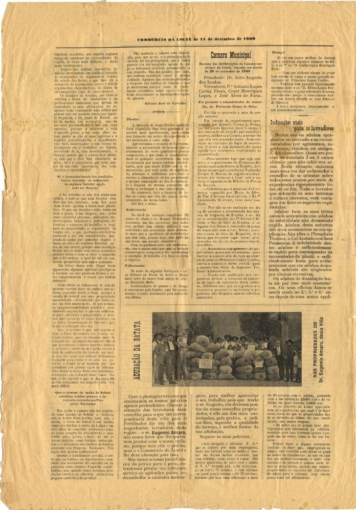 Commercio da Louzã n.º 31 – 11.12.1909 Slide 2