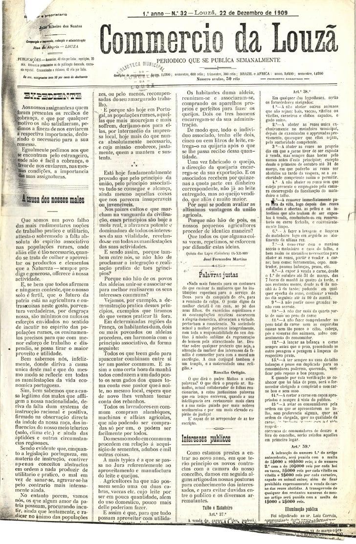 Commercio da Louzã n.º 32 – 22.12.1909