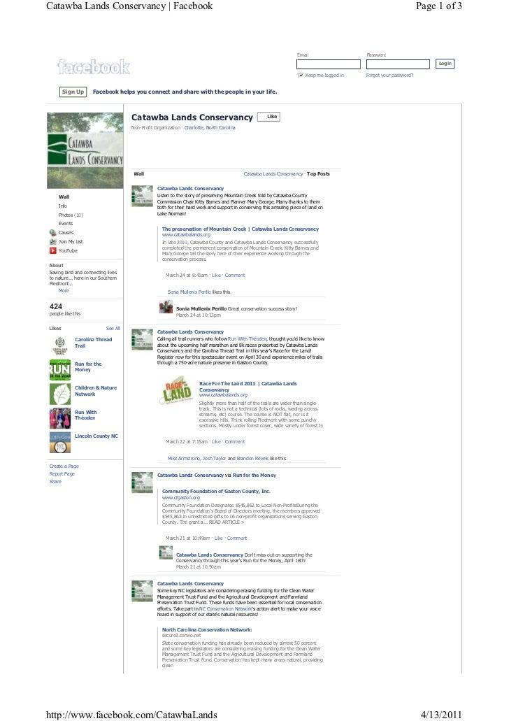 Catawba Lands Facebook Page