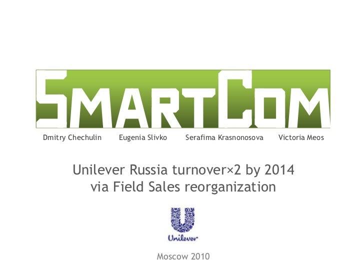 Dmitry Chechulin<br />Eugenia Slivko<br />SerafimaKrasnonosova<br />Victoria Meos<br />Unilever Russia turnover×2 by 2014v...