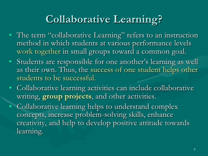 Collaborative Teaching Methodologies ~ Collaborative learning and p networks