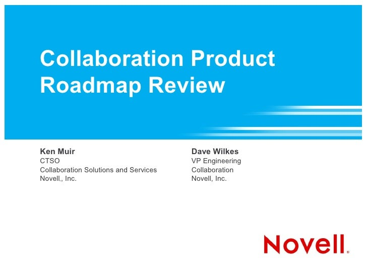 Collaboration Product Roadmap Review  Ken Muir                               Dave Wilkes CTSO                             ...