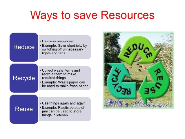 ways to save natural resources