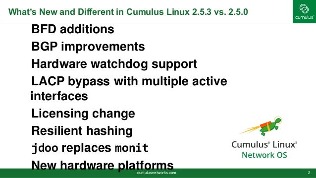 Cumulus Linux 2.5.3 Slide 2