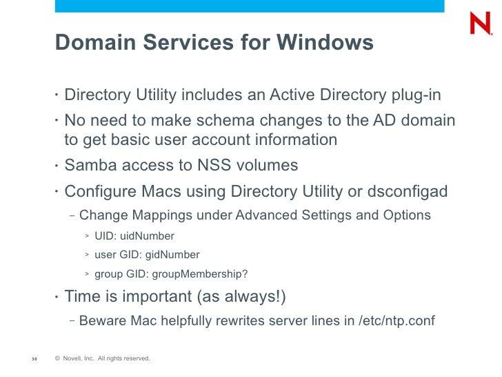 Apple Directory Utility
