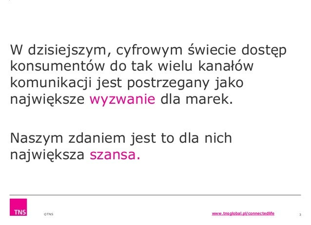 Connected Life od TNS Polska Slide 2