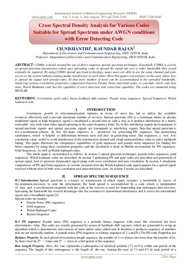 International Journal of Modern Engineering Research (IJMER) www.ijmer.com Vol. 3, Issue. 4, July-August. 2013 pp-2244-224...
