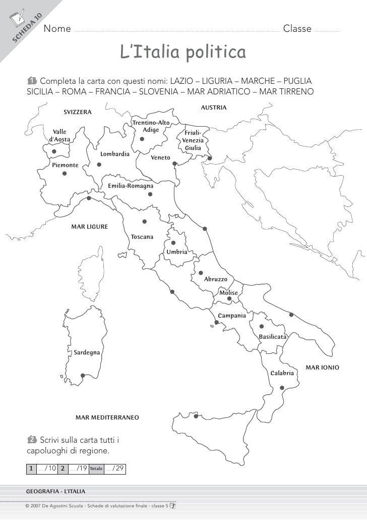 Cartina Muta Italia Per Verifica.Cl 5 Verifiche Sito