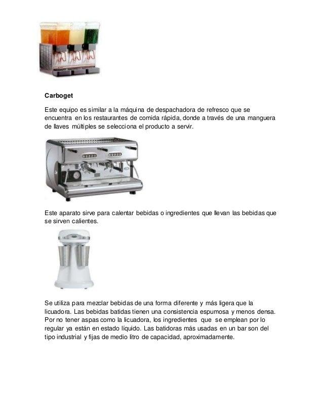Clacificcion de cristaleria completo for Equipo mayor y menos de la cocina pdf