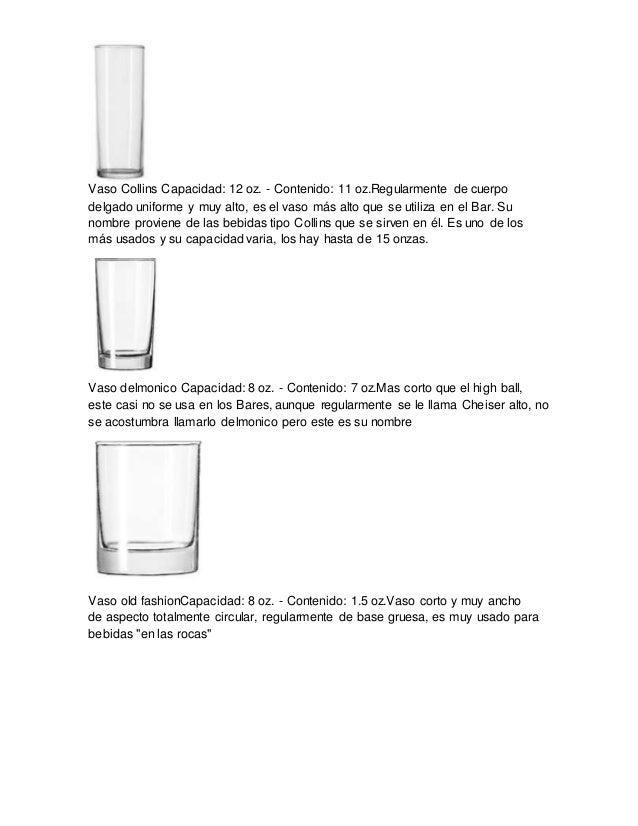 Clacificcion de cristaleria completo for Cristaleria para bar