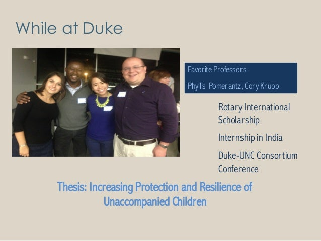 duke university masters thesis Duke university duke law school go the program ends by offering judges the singular opportunity to work on a research thesis of publishable quality that may profoundly impact 2016-2018 judicial studies master's class has begun in may 2016, duke law welcomed its third incoming.