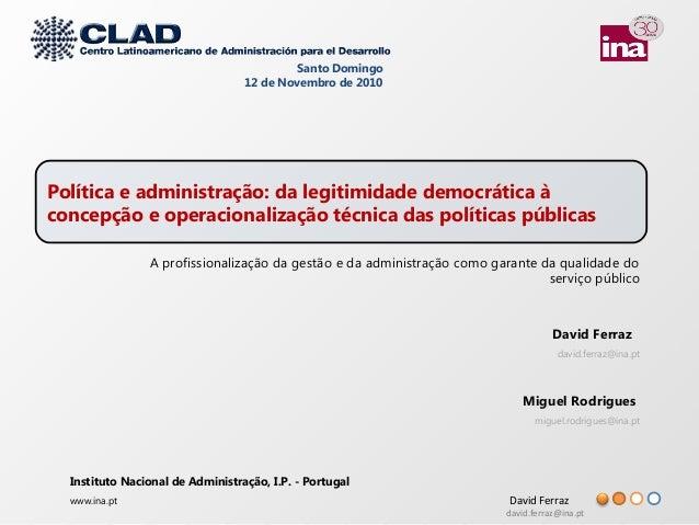 David Ferraz david.ferraz@ina.pt David Ferraz david.ferraz@ina.pt Miguel Rodrigues miguel.rodrigues@ina.pt Instituto Nacio...