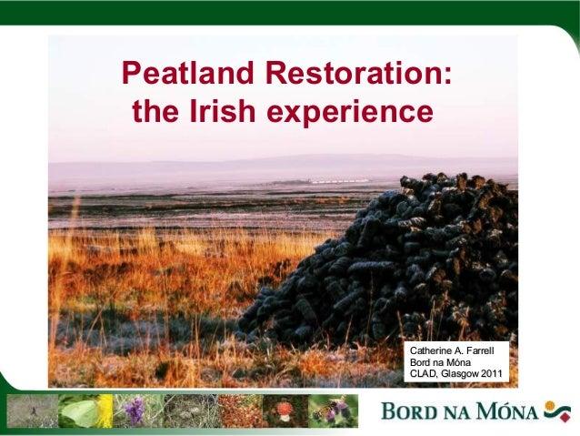 Peatland Restoration:the Irish experience                  Catherine A. Farrell                  Bord na Móna             ...