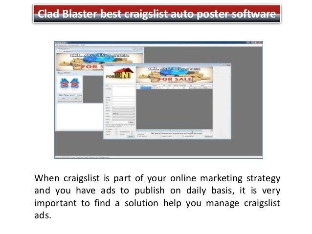 Craigslist auto ad poster software free