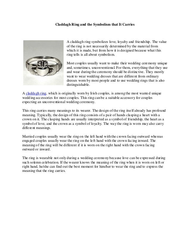 How to wear a claddagh ring the right way