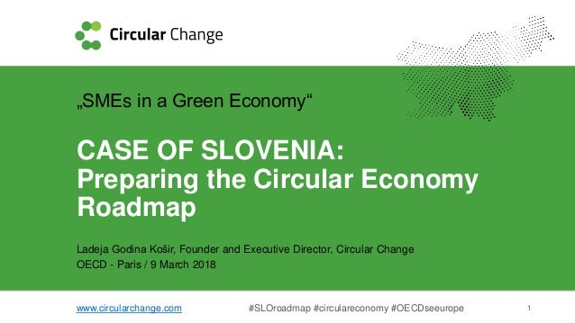 "www.circularchange.com #SLOroadmap #circulareconomy #OECDseeurope 1 ""SMEs in a Green Economy"" CASE OF SLOVENIA: Preparing ..."