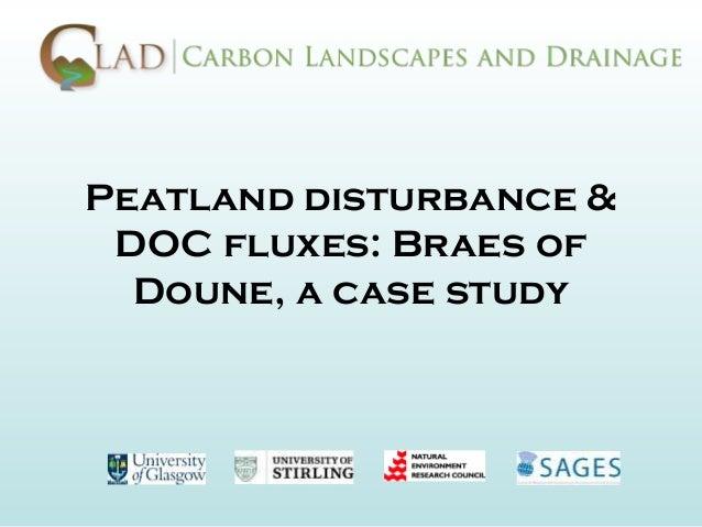 Peatland disturbance & DOC fluxes: Braes of  Doune, a case study