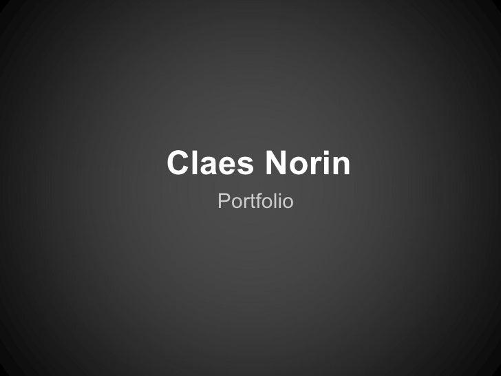 Claes Norin   Portfolio