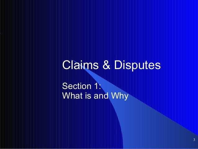 Claims & disputes management Slide 3