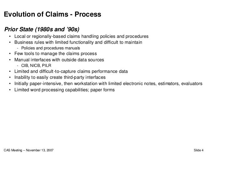 Claims Process Improvement And Automation