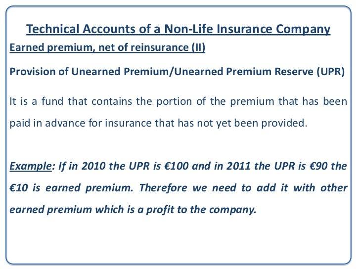 Provision of Unearned Premium                                                          GasanMamoUnearned premium in 2009 =...