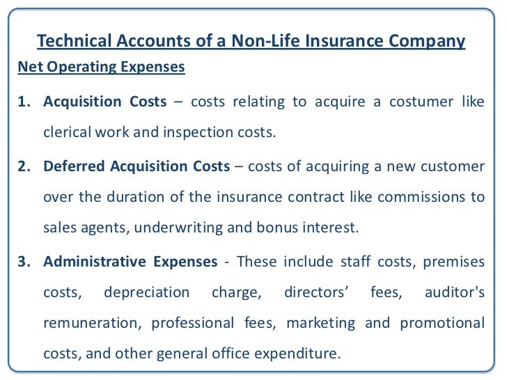 Technical Accounts of a Non-Life Insurance CompanyNet Operating Expenses                                                  ...