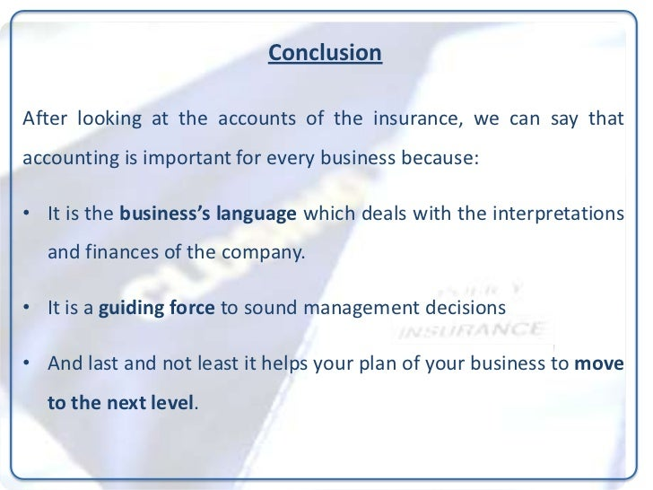 Accounting for non-life insurances