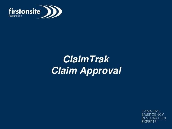 ClaimTrakClaim Approval