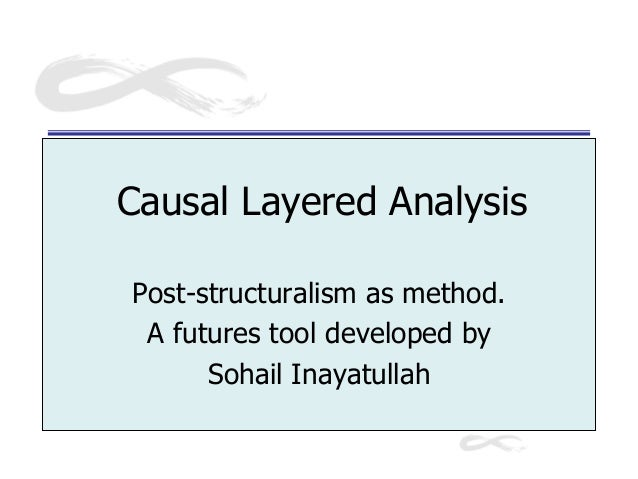 Causal Layered Analysis Post-structuralism as method. A futures tool developed by Sohail Inayatullah