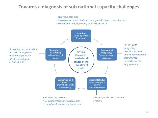 Towards a diagnosis of sub national capacity challenges • Strategic planning • Cross-sectoral, vertical and cross-jurisdic...
