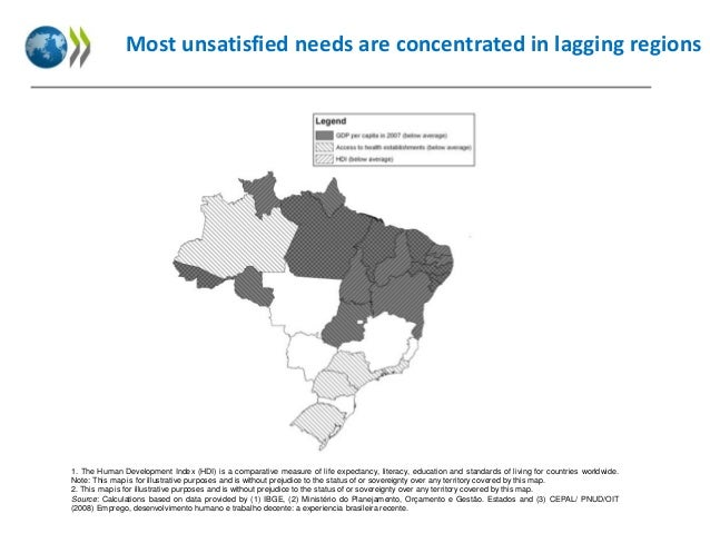 Most unsatisfied needs are concentrated in lagging regions  1. The Human Development Index (HDI) is a comparative measure ...