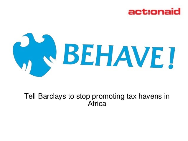 Tell Barclays to stop promoting tax havens in  Africa