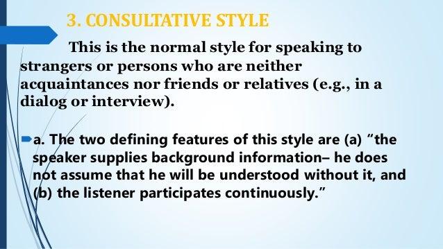 Speech Style