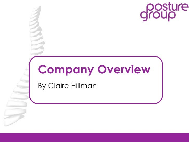 Company Overview By Claire Hillman